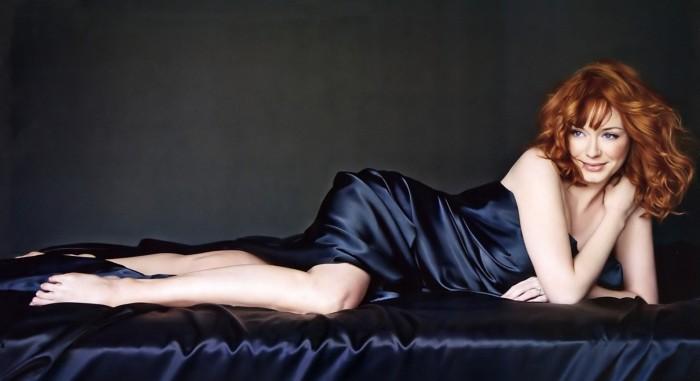 Christina Hendricks en lingerie c'est sexy