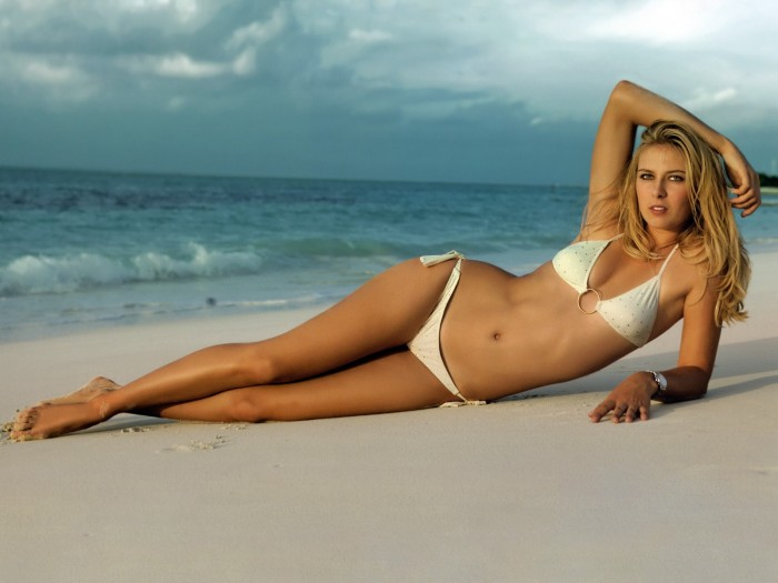 Maria Sharapova la sexy joueuse de tennis Russe en bikini